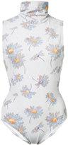 Rodarte floral print playsuit - women - Polyester/Spandex/Elastane - XS