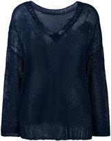 P.A.R.O.S.H. knitted top - women - Linen/Flax/Polyamide - M