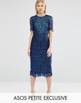 Asos Coated Lace Double Layer Smart Woven Dress