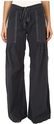 XCVI Willow Wide Leg Stretch Poplin Pants (Black) Women's Casual Pants