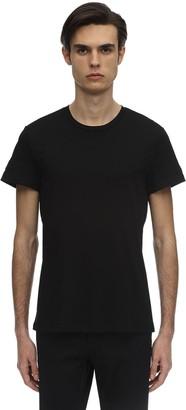 Balmain Embossed Sleeves Cotton Jersey T-shirt