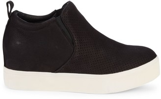 J/Slides Sallie Hidden Wedge Suede Sneakers