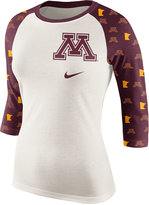 Nike Women's Minnesota Golden Gophers Triblend Veer Raglan T-Shirt