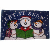 Asstd National Brand Let it Snow Rectangular Doormat
