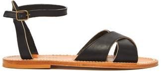K. Jacques Dottie Leather Sandals - Womens - Black