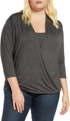 Loveappella Drape Front Top