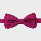 Paul Smith Men's Burgundy 'Micro-Dot' Silk Bow Tie