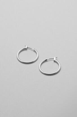 Weekday Mid Hoop Earring - Silver