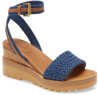 See by Chloe Robin Ankle Strap Wedge Sandal