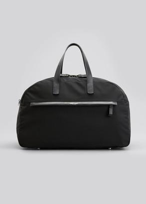 Giorgio Armani Men's Waterproof Nylon/Leather Duffel Bag