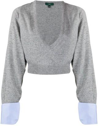 Jejia cropped V-neck jumper
