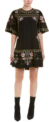 Isabel Marant Embroidered Silk Shift Dress