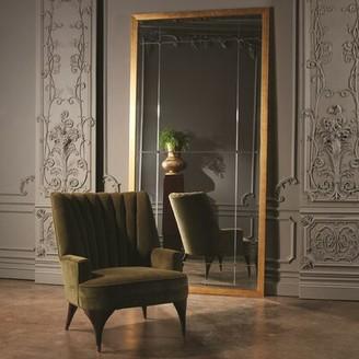 """Global Views Duncan 28.5"""" W Tufted Velvet Armchair Fabric: Velvet Moss Velvet"""
