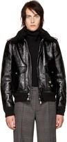 Saint Laurent Black Shearling Collar Jacket