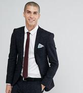 Heart N Dagger super skinny wedding suit jacket in printed wool mix