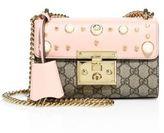 Gucci Padlock Studded Leather Shoulder Bag