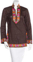 Tory Burch Embroidered Tunic Top