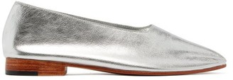 Martiniano Glove Metallic-leather Ballerina Flats - Womens - Silver