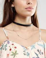 Johnny Loves Rosie Double Layered Choker Necklace