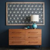 west elm Framed Handmade Paper Wall Art - Gray Star