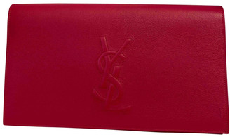 Saint Laurent Pink Leather Clutch bags