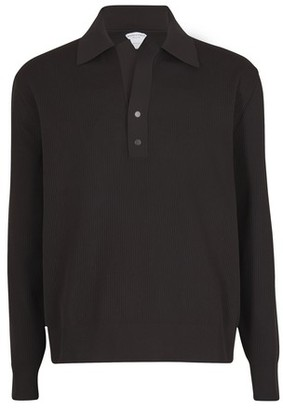 Bottega Veneta Technical piquet long sleeves polo