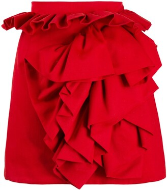Loulou Ruffled Trim Mini Skirt