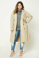 Forever 21 FOREVER 21+ Plus Size Longline Trench Coat