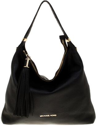 MICHAEL Michael Kors Black Leather Tassel Hobo