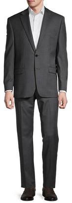 Lauren Ralph Lauren Lexington Standard-Fit Sharkskin Wool-Blend Suit