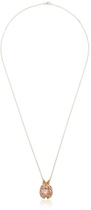 Yvonne Léon 18k Gold Pineapple Necklace With Pearl