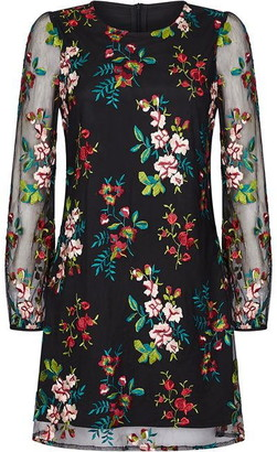 Yumi Floral Embroidered Dress