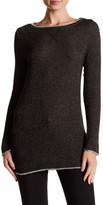 Three Dots Metallic Knit Tunic