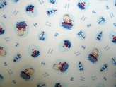 BABYBJÖRN SheetWorld Fitted Sheet (Fits Travel Crib Light) - Sailing Bears - Made In USA - 24 inches x 42 inches (61 cm x 106.7 cm)
