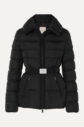Moncler Belted Quilted Shell Down Jacket - Black
