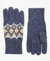 Brooks Brothers Fair Isle Wool-Blend Gloves