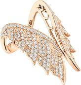 Stephen Webster Magnipheasant Diamond Open Wing Ring in 18K Rose Gold