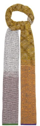 Missoni Colour-block Rib-knitted Scarf - Green Multi