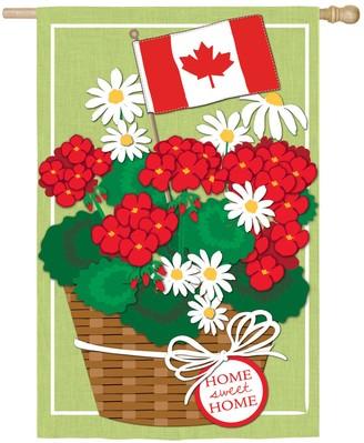 Canadian Patriotic Flowers Garden Flag