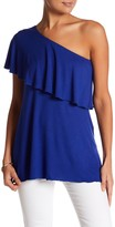 Loveappella One-Shoulder Ruffle Top