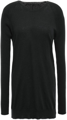 Haider Ackermann Ribbed Cotton And Wool-blend Sweater