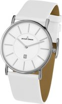 Jacques Lemans York Men's 38mm White Calfskin Stainless Steel Case Watch 1-1620E