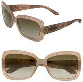 Burberry Check Temple Square Frame Sunglasses