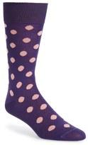 Paul Smith Men's 'Bright Spot' Cotton Blend Socks