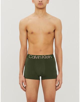 Calvin Klein Logo-print stretch-cotton boxer shorts