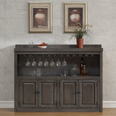 American Heritage Martino Bar Cabinet with Wine Storage