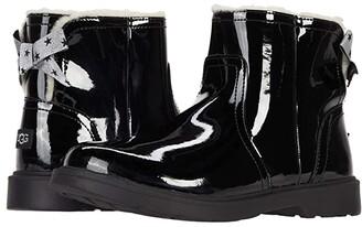 Ugg Kids Lynde Patent (Little Kid/Big Kid) (Black) Girls Shoes