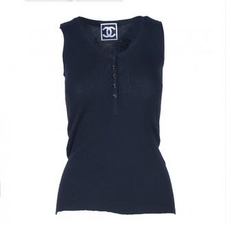 Chanel Black Cashmere Tops