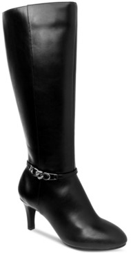 Karen Scott Hanna Wide-Calf Dress Boots, Created for Macy's Women's Shoes