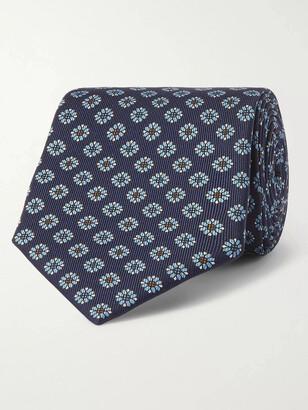E.Marinella 8cm Floral-Print Silk-Twill Tie